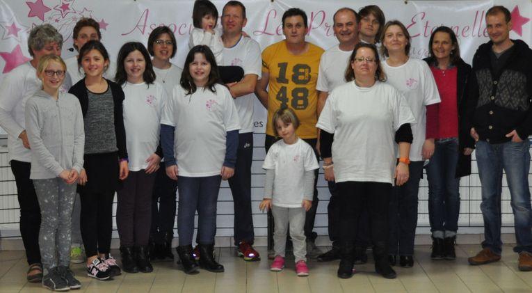 Les membres et bénévoles de l'association Léa Princesse Eternelle pour la Bourse aux Jouets 2015